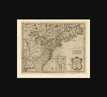 American Revolutionary War Era Maps 1750-1786 172 A new map of the British Dominions in North America with the limits of the governments annexed thereto by Unisex T-Shirt