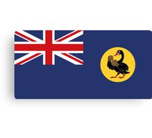 The Fighting State Flag of Western Australia Canvas Print