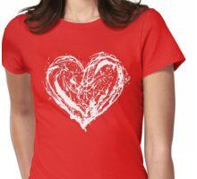 SCRAMBLED HEART Womens Fitted T-Shirt