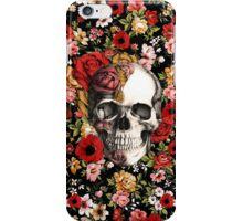 In bloom floral skull iPhone Case/Skin