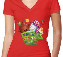 Basket Delight Women's Fitted V-Neck T-Shirt