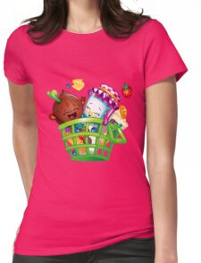 Basket Delight Womens Fitted T-Shirt