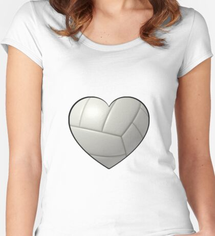 Volleyball Heart Women's Fitted Scoop T-Shirt