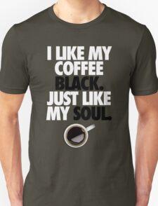 COFFEE BLACK SOUL Unisex T-Shirt