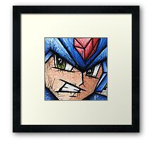 Mega Man the Blue Bomber Framed Print