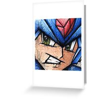 Mega Man the Blue Bomber Greeting Card