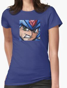 Mega Man the Blue Bomber Womens Fitted T-Shirt