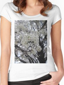 Blossoms Before A Storm Women's Fitted Scoop T-Shirt