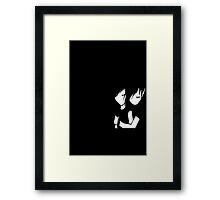 Emo hugging Framed Print