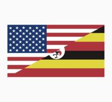 usa uganda half flag Kids Tee