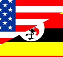 usa uganda half flag Sticker