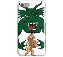Green Monster versus Angry Lion iPhone Case/Skin