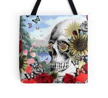 Nature skull landscape Tote Bag