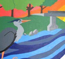 Heron Mural Sticker
