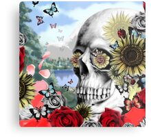 Nature skull landscape Metal Print