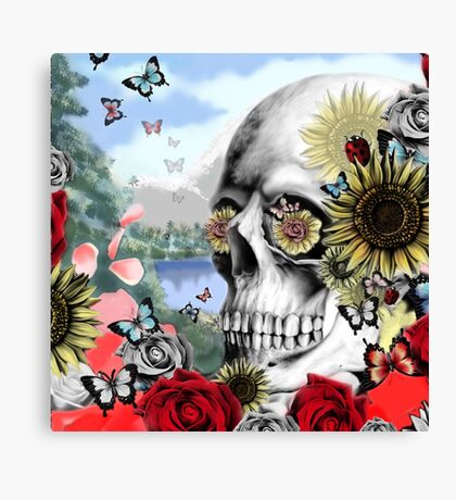 Nature skull landscape Canvas Print