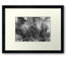 ink style of black watercolour texture Framed Print