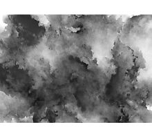 ink style of black watercolour texture Photographic Print