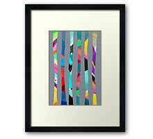 Trees / Grey Framed Print