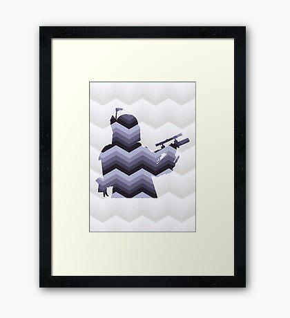 Boba Fett Pattern Framed Print