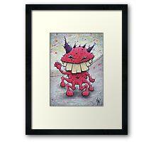 Friendly Red Monster Framed Print