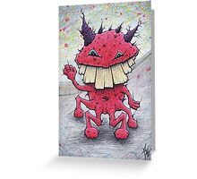 Friendly Red Monster Greeting Card