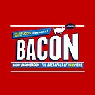 Funny Bacon Shirt | Breakfast of Hampions | Bacon Lover by BootsBoots