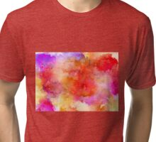 ink style of orange watercolour texture Tri-blend T-Shirt