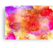 ink style of orange watercolour texture Canvas Print