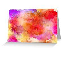 ink style of orange watercolour texture Greeting Card