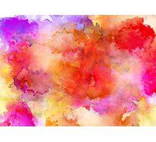 ink style of orange watercolour texture Photographic Print