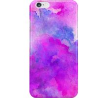 ink style of purple watercolour texture iPhone Case/Skin