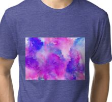 ink style of purple watercolour texture Tri-blend T-Shirt