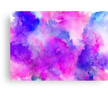 ink style of purple watercolour texture Canvas Print