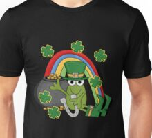 St. Patrick's Day Frog Rainbow Gold Unisex T-Shirt