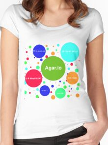 Agario assortment of nicknames Women's Fitted Scoop T-Shirt