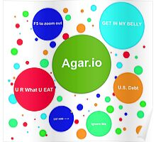 Agario assortment of nicknames Poster