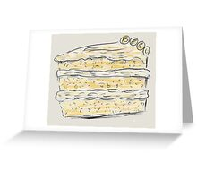 Layer Cake With Cream (Sketch) Greeting Card