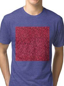 Vintage Floral Claret Ruby Red Tri-blend T-Shirt