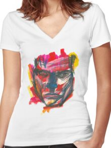 Graphic Man Women's Fitted V-Neck T-Shirt