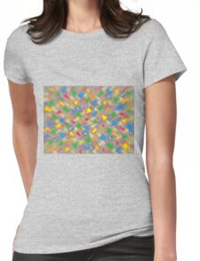 Brush Strokes Womens Fitted T-Shirt