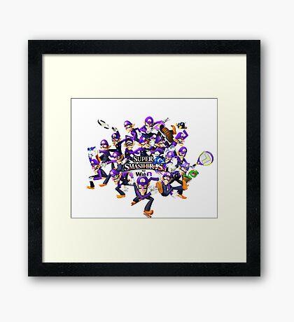 Super WAH Bros. Framed Print