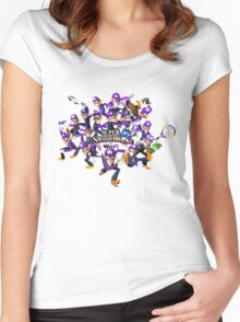Super WAH Bros. Women's Fitted Scoop T-Shirt