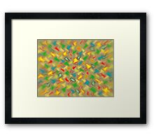 Warm Brush Strokes Framed Print