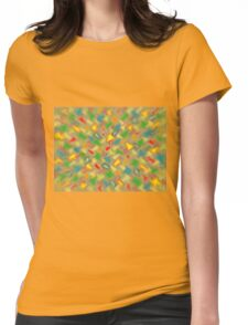 Warm Brush Strokes Womens Fitted T-Shirt