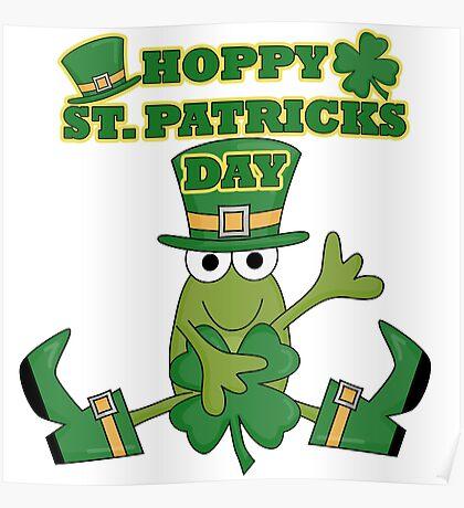 Frog Hoppy St. Patricks Day Poster