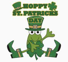 Frog Hoppy St. Patricks Day Kids Tee