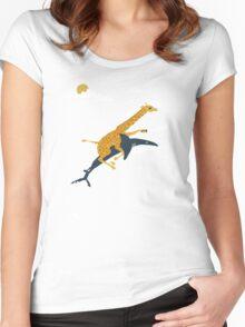 giraffe and shark Women's Fitted Scoop T-Shirt