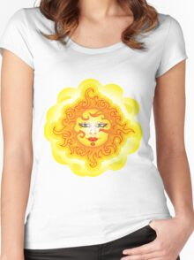 Abstract Sun Women's Fitted Scoop T-Shirt