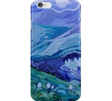 How gloriously the sun greets the mountains (John Muir) iPhone Case/Skin